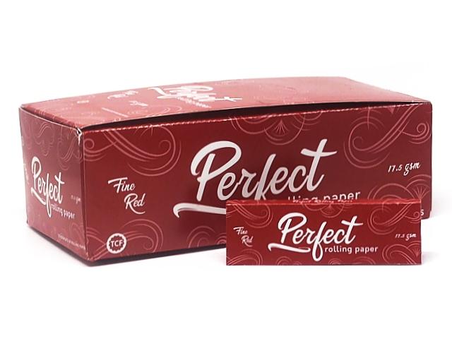 9708 - Χαρτάκια στριφτού Perfect Fine Red Κόκκινα Κανονικό πάχος ΚΟΥΤΙ ΤΩΝ 50