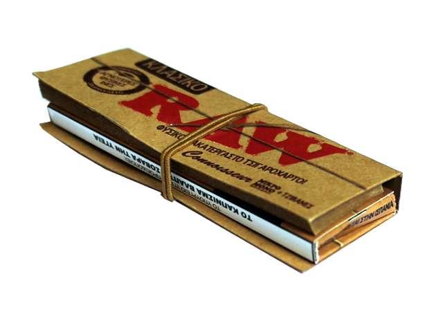 Χαρτάκια στριφτού Raw κλασικό ακατέργαστο με 50 φύλλα και 50 τζιβάνες