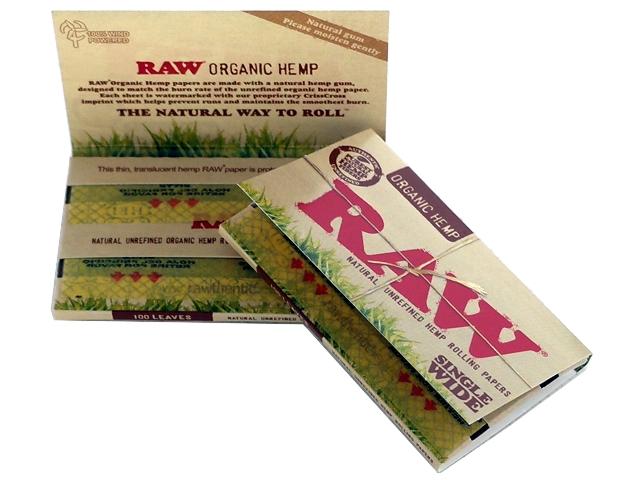 Χαρτάκια στριφτού RAW ORGANIC 100 φύλλα Αλεύκαντο Single Wide