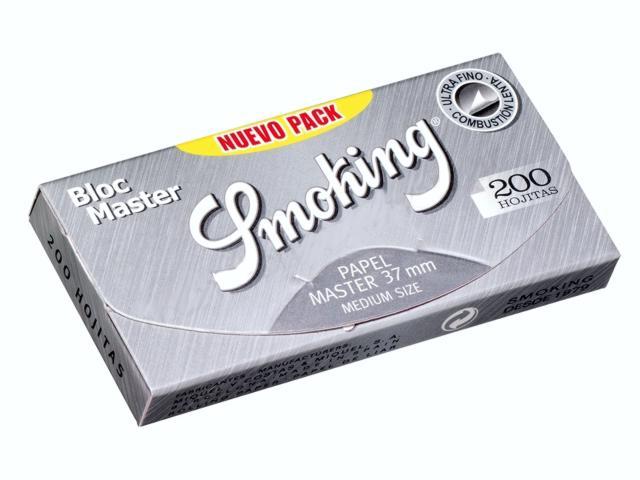 3034 - Χαρτάκια στριφτού Smoking Bloc Master 1 1/4 NUEVO μεσαία με 200 φύλλα