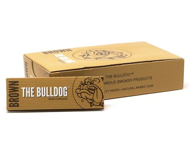 9798 - Χαρτάκια στριφτού THE BULLDOG BROWN ΑΚΑΤΕΡΓΑΣΤΑ 1&1/4 Hemp μεσαίο (κουτί των 25)