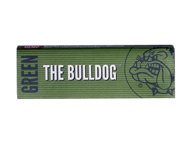 9795 - Χαρτάκια στριφτού THE BULLDOG GREEN ΠΡΑΣΙΝΑ 1&1/4 Hemp μεσαίο