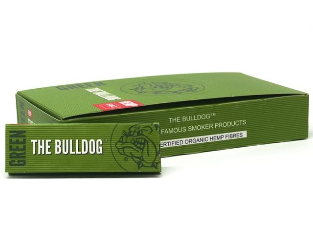 9796 - Χαρτάκια στριφτού THE BULLDOG GREEN ΠΡΑΣΙΝΑ 1&1/4 Hemp μεσαίο (κουτί των 25)