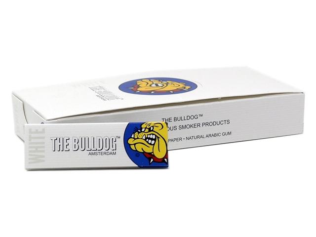 9118 - Χαρτάκια στριφτού THE BULLDOG WHITE REGULAR 50 (κουτί των 25)