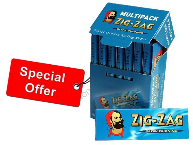 Χαρτάκια ZIG-ZAG MULTIPACK (8 τεμάχια) ρυζόχαρτο με τιμή €0.16 το τσιγαρόχαρτο