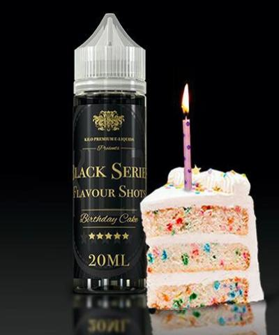 9326 - KILO BLACK SERIES Flavor Shot BIRTHDAY CAKE 20ml/60ml (τούρτα με σαντιγί)