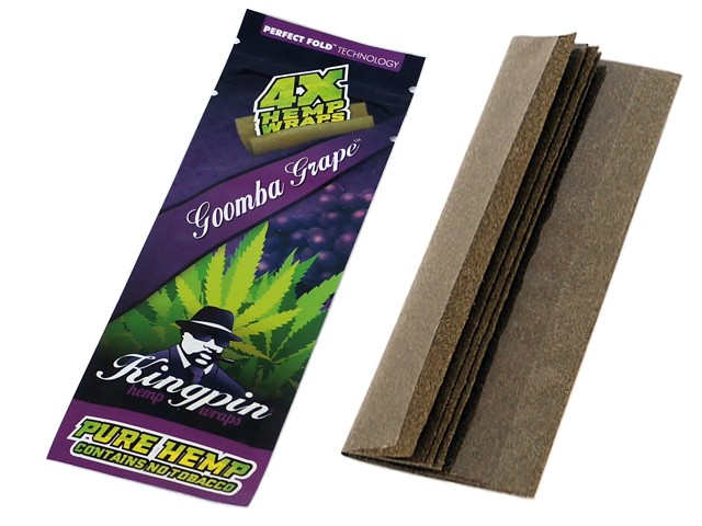 6133 - Kingpin Hemp PURPLE Wraps Goomba Grape (με 4 πουρόφυλλα)