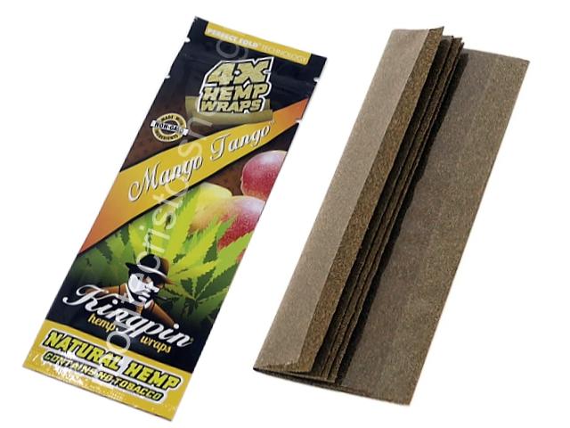 9204 - Kingpin Manic Mango Tango Hemp Wraps (με 4 πουρόφυλλα)