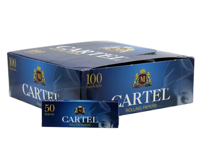 2447 - Χαρτάκια στριφτού Cartel Μπλε λεπτό (κουτί των 100)