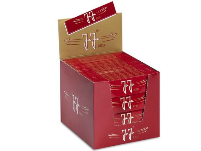3672 - Κουτί με 100 χαρτάκια στριφτού Jaja RED King Size Slim