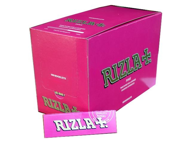 2736 - Κουτί με 100 χαρτάκια στριφτού Rizla Pink ροζ