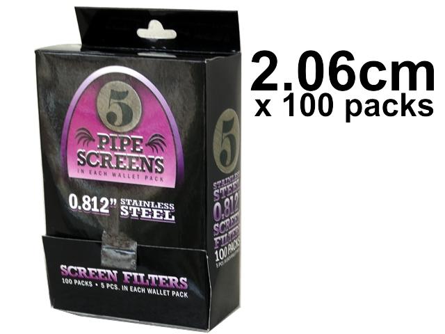 Κουτί με 100 Σίτες Pipe Screens 0.812 Stainless steel 2.06cm μεγάλες (100 πακετάκια των 5)