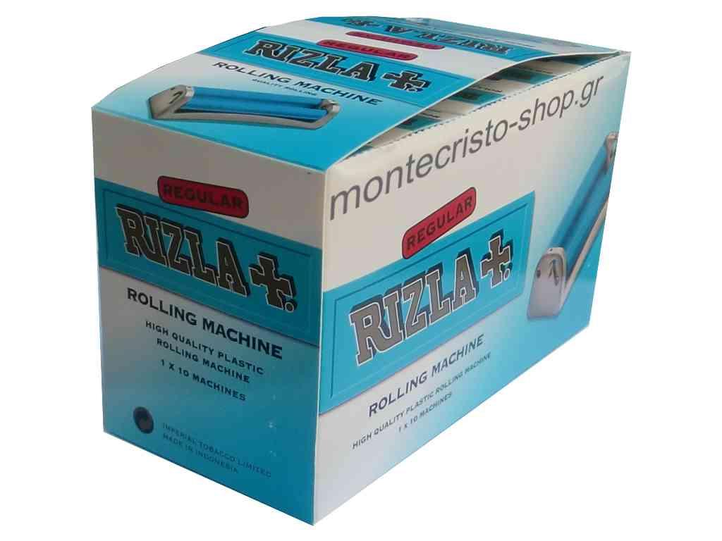 1921 - Κουτί με 10 Μηχανές Rolling Machine RIZLA Regular πλαστικές με τιμή 1.60 η μία