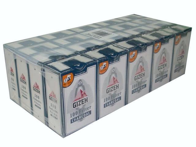 1444 - Κουτί με 10 φιλτράκια GIZEH ενεργού άνθρακα 8mm GIF009