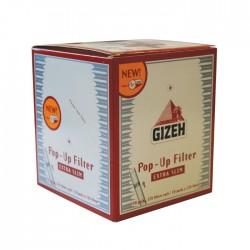 1118 - Κουτί με 10 φιλτράκια GIZEH pop up extra slim 5,3mm 126 φίλτρα GIF007