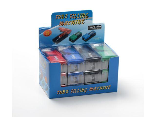 9313 - Κουτί με 12 μηχανές γεμίσματος άδειων τσιγάρων ATOMIC CIGARETTE MACHINE SLIM 0401001