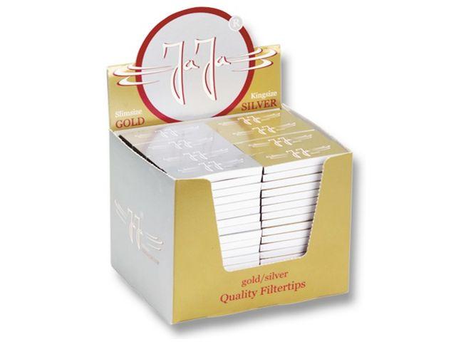 3705 - Κουτί με 144 Τζιβάνες JaJa Filtertips thick booklet silver & gold (χοντρές)