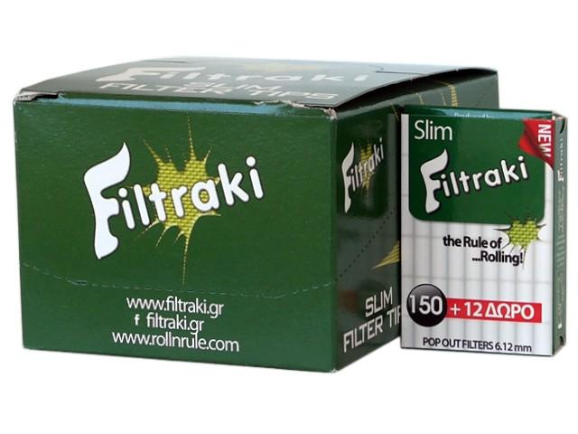 6286 - Κουτί με 18 Filtraki SLIM 150 + 12 ΔΩΡΟ by ROLL&RULE