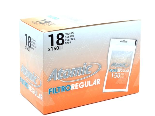 8903 - Κουτί με 18 φιλτράκια στριφτού Atomic FILTROREGULAR 8mm 150 Art 0163000