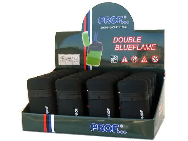 Κουτί με 20 αναπτήρες με διπλό φλόγιστρο PROF DBL BLUE FLAME BLACK COLOR 40803878 μαύρος