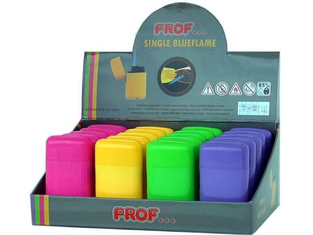 Κουτί με 20 αντιανεμικούς αναπτήρες PROF SINGLE BLUEFLAME 4 COLORS JET 40804059
