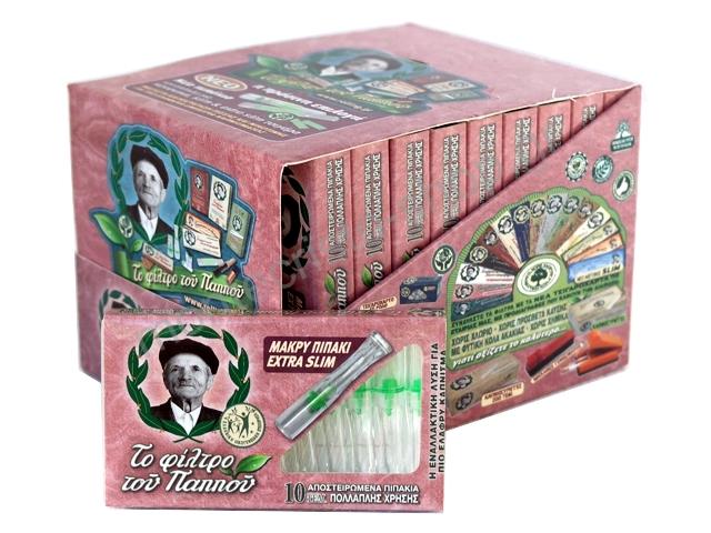Κουτί με 20 μακρυά πιπάκια στριφτού του παππού extra slim 5,7mm 42902-085 πίπα τσιγάρου