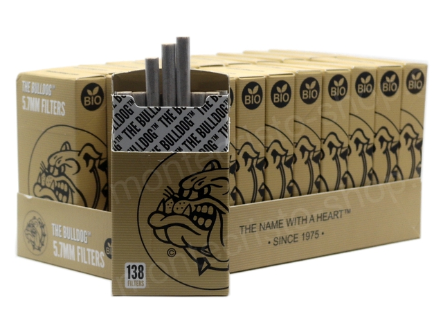 8906 - Κουτί με 20 πακετάκια THE BULLDOG 5.7mm BIO Filters με 138 φιλτράκια