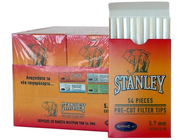 6420 - Κουτί με 20 φιλτράκια STANLEY 54 PIECES PRE-CUT 5.7mm EXTRA SLIM