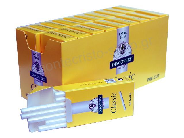 2703 - Κουτί με 20 φιλτράκια στριφτού DISCOVERY Classic Extra Slim 5.7mm (τιμή 0.43 το πακετάκι)