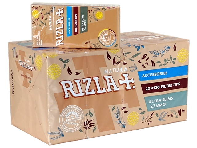 4182 - Κουτί με 20 Φιλτράκια στριφτού Rizla NATURA ULTRA SLIM 5.7