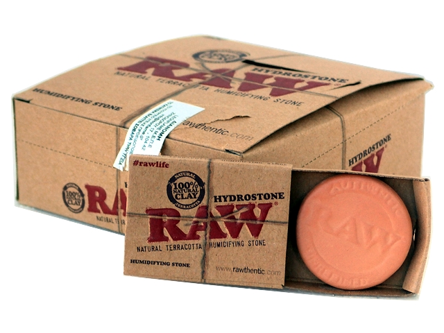 3577 - Κουτί με 20 υγραντήρες κεραμικούς RAW Hydrostone Terracota για καπνοθήκη