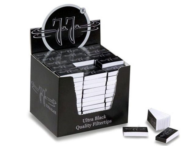 3703 - Κουτί με 210 τζιβάνες JaJa Filtertips booklet thick Ultra Black (χοντρό χαρτί)
