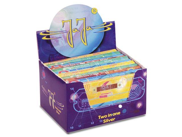 3692 - Κουτί με 22 χαρτάκια στριφτού JaJa Two in One SILVER King Size με τζιβάνες