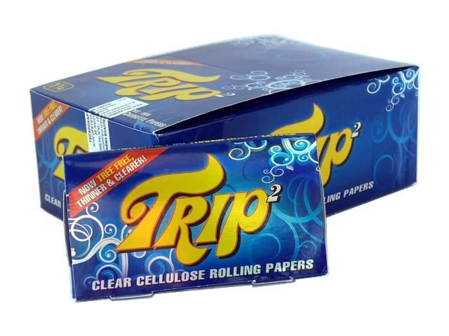 3440 - Κουτί με 24 χαρτάκια στριφτού Trip2 μεσαία 1 1/4 διάφανα