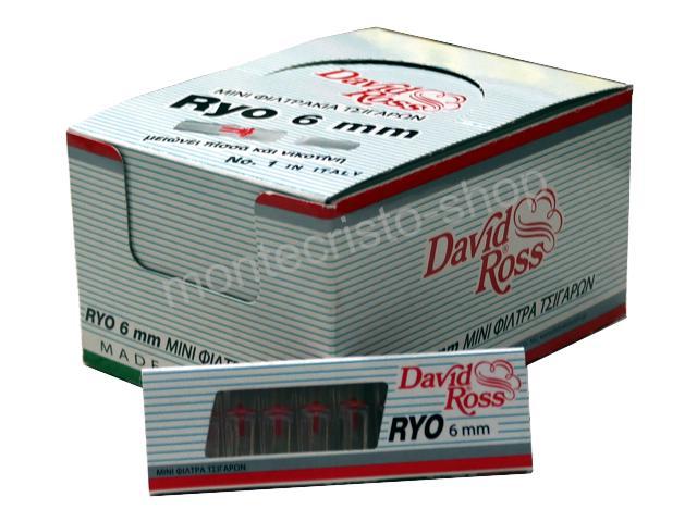 Κουτί με 24 πιπάκια τσιγάρου David Ross RYO Slim 6mm (made in Italy)