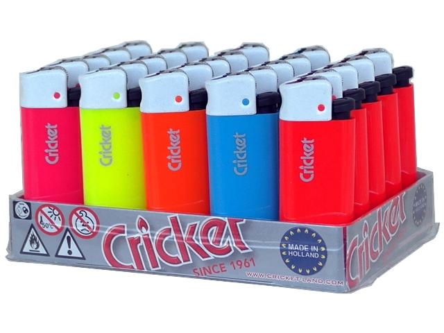 4949 - Κουτί με 25 αναπτήρες Cricket Fluo Mini White Cup 22125127