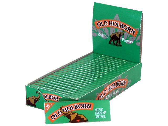 Κουτί με 25 χαρτάκια Old Holborn GREEN 60 φύλλα