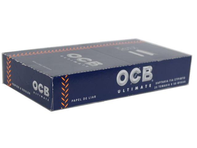 3952 - Κουτί με 25 χαρτάκια στριφτού OCB ULTIMATE SINGLE