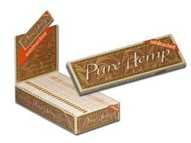 3154 - Κουτί με 25 χαρτάκια στριφτού Pure Hemp unbleched μεσαίο 1 και 1/4 ακατέργαστο