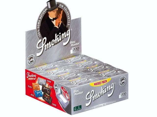 3035 - Κουτί με 40 χαρτάκια στριφτού Smoking Bloc Master 1 1/4 NUEVO μεσαία με 200 φύλλα