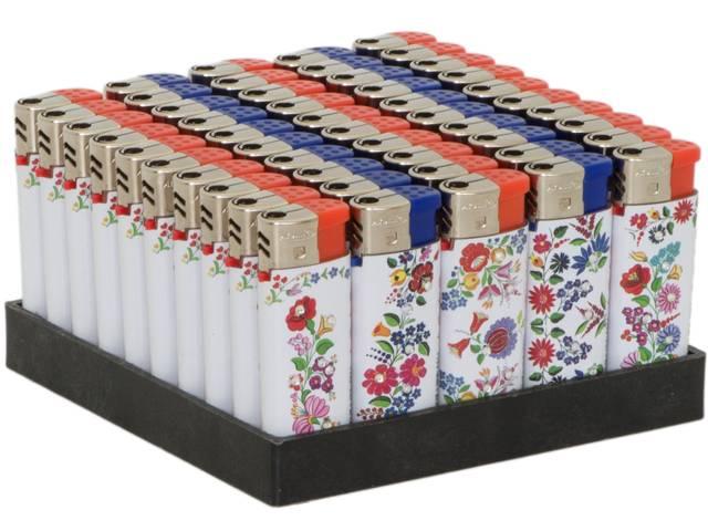 2160 - Κουτί με 50 αναπτήρες με στρασάκια Atomic Electronic Lighter Midi Softflame Refillable Flower ηλεκτρονικός €0,37 ο ένας