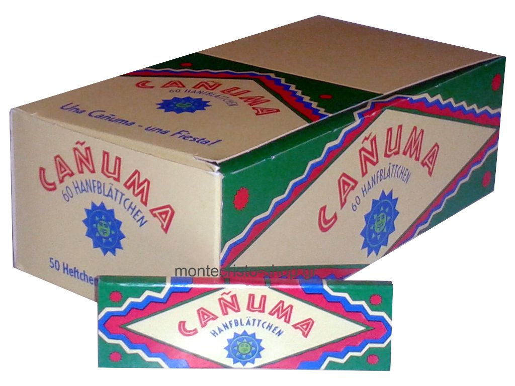 1699 - Κουτί με 50 χαρτάκια στριφτού Canuma με τιμή 0.38 το τσιγαρόχαρτο