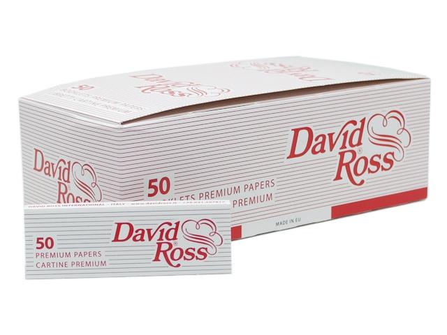 7307 - Κουτί με 50 χαρτάκια στριφτού David Ross Premium (red