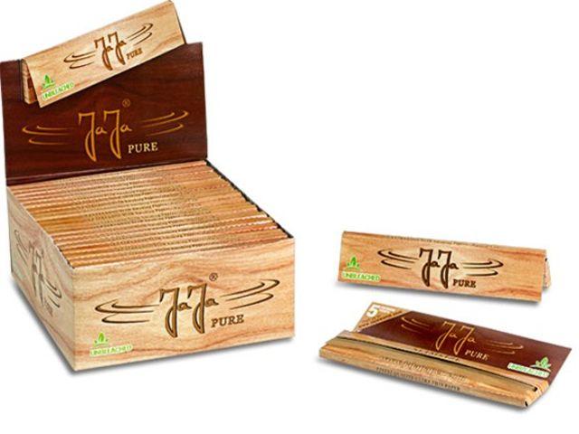 3674 - Κουτί με 50 χαρτάκια στριφτού Jaja PURE UNBLEACHED King Size Slim ακατέργαστα