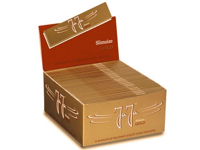 3670 - Κουτί με 50 χαρτάκια στριφτού Jaja Slimsize GOLD King Size