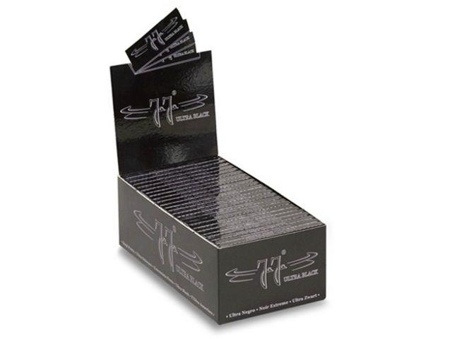 3686 - Κουτί με 50 χαρτάκια στριφτού Jaja ULTRA BLACK 1 & 1/4 μεσαία