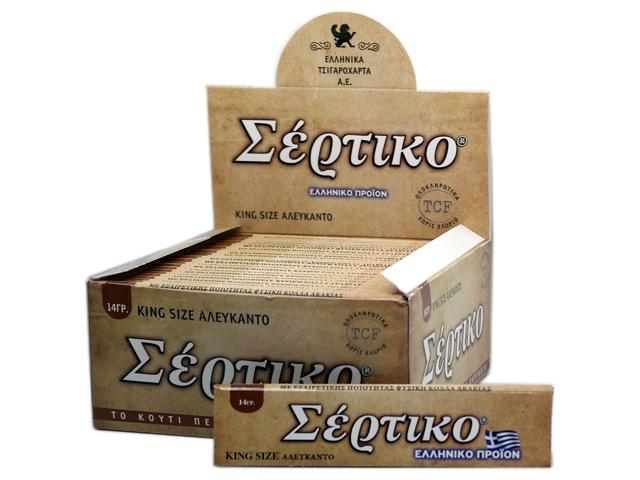 Κουτί με 50 χαρτάκια στριφτού ΣΕΡΤΙΚΟ ΑΛΕΥΚΑΝΤΟ KING SIZE 14γρ