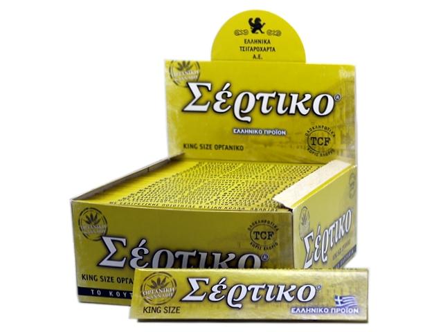 6980 - Κουτί με 50 χαρτάκια στριφτού ΣΕΡΤΙΚΟ ΟΡΓΑΝΙΚΗ ΚΑΝΝΑΒΗ KING SIZE