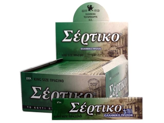 6982 - Κουτί με 50 χαρτάκια στριφτού ΣΕΡΤΙΚΟ ΠΡΑΣΙΝΟ KING SIZE 17γρ
