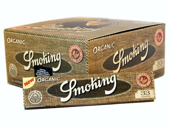 Κουτί με 50 χαρτάκια στριφτού Smoking ORGANIC KING SIZE 33 φύλλα